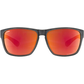 UVEX LGL Ocean Polavision Glasses black matt/mirror red
